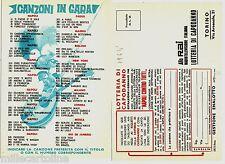 """#LOTTERIE: CON PUBBLICITA' """"CANZONI IN GARA""""  1964"""