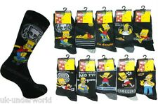 6 Pairs Ladies Womens Official Simpsons Socks Bart Homer Character Novelty Adult