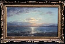 GEORGE MELVILLE RENNIE1874-1953 SCOTTISH IMPRESSIONIST SEASCAPE OIL PAINTING ART