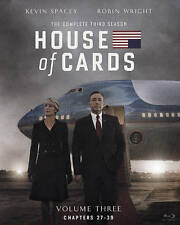 House of Cards Season 3 (Blu-ray Disc 4-Disc Set), opened, used, viewed once