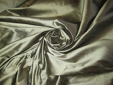 "GOLD/BLACK TWO TONE 100% DUPIONI SILK FABRIC 54"" WIDE BY THE YARD"