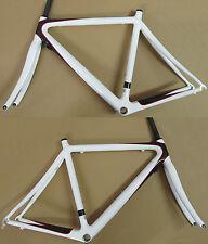 Intec C1 Carbon 12-K Vélo de course Cadre 1020gr Fourche 410 gr. Carbon/blanc