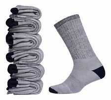 6 Pair  Men's Merino Wool Sock Gray Warm Thermal Sport Dress Hiking Camp