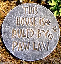gostatue  MOLD  Dog plaque plaster concrete mould PAW LAW