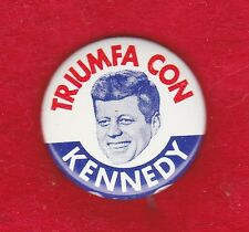VINTAGE 1960 SPANISH JOHN KENNEDY FOR PRESIDENT CAMPAIGN PICTURE PIN