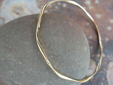 10 KT Yellow Gold Round Slip On Bangle Bracelet NEW 2.5 mm in Thickness NEW