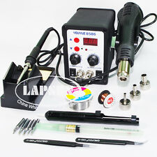 YOUYUE 8586 220V 2-in-1 SMD SMT Rework Station Solder Iron+Hot Air Gun + 5 tips