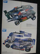 Dubbel Poster Martini Lotus Mk.80-1 + Candy Tyrrell 009 1979 Folded