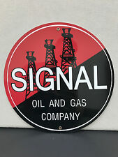 Signal oil and gas company sign man cave advertising  round