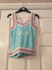 Primark Girls Cropped Top With Crossover Back Straps Turquoise And Pink Age 13 Y