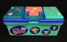 Littlest Pet Shop Storage Tote Carrying Case Tackle Box NO LATCH LPS Organizer