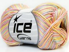 Lot of 6 Skeins Ice Yarns ALMINA COTTON COLOR (100% Mercerized Cotton) Wool Y...