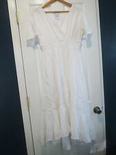 Women's Small White Cotton Enchanting Battenburg Lace Dress NEW the Paragon