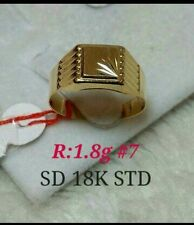 "18k saudi gold men's ring ,,7""size,,"