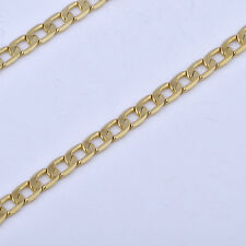 Yellow Gold Filled Womens Mens Vintage Punk Cuban Link Chain Necklace Long