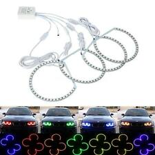 4x RGB Remote Multi-Color LED Angel Eyes Kit for BMW E38 E39 E46 M3 3 5 7 Series