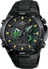 New Casio Men Edifice Blk Chorono Watch #EQWM1100DC-1A2