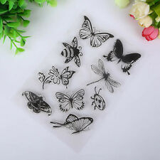 Winged insects scrapbook DIY photo albums cards silicone transparent seal craft