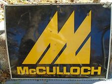 "VINTAGE RACING GO KART McCULLOCH METAL ADVERTISING SIGN 36""X27"" SAW CART PART"