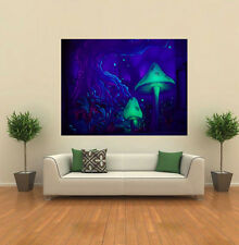 MUSHROOMS PSYCHEDELIC TRIPPY GIANT WALL POSTER ART PRINT P037