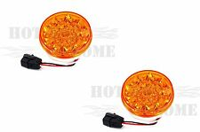 """2pcs x 4"""" Round 21 Amber LED Light with Amber Lens with PL-3 plug"""