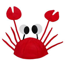 Lovely Red Lobster Crab Sea Animal Hat Costume Accessory Adult Child Cap NEW