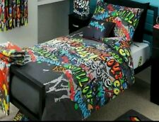 BLACK KIDS/TEENS Graffiti Skateboarder single Duvet Set,  great graffiti set.gr8