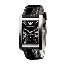 Emporio Armani Black/Silver Quartz Analog Men's Watch AR0143