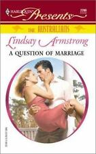 A Question Of Marriage by Lindsay Armstrong (Harlequin Presents) (O)