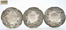 5 Japanese Silver Repousse Dragon Tea Dish Plate Tray 純銀 JUNGIN 186 Gram