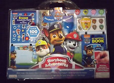 Nickeloden Paw Patrol Storybook Adventures Book Stickers Photo Frame New [GS]