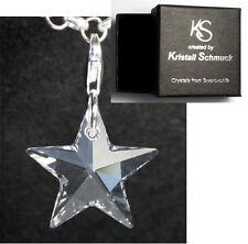 Echt Silber 925 Anhänger Charm mit Swarovski® Kristall Stern Sternchen + Box