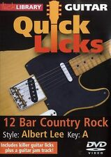 LickLibrary QUICK LICKS 12 BAR COUNTRY GUITAR Style ALBERT LEE Lessons Video DVD