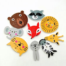 50Pcs Mixed Animal Scrapbooking Decor Sewing 2 Holes Wooden Buttons Stunning