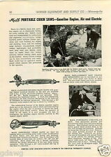 1943 PAPER AD 2 Man Chain Saws Saw Mall Concrete Vibrator Electric Drill