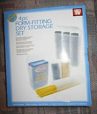 4pc Form Fitting Plastic Storage Set Cook As Seen on TV Cookies Pasta Crackers