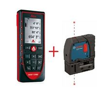Leica DISTO E7500i Laser Meter with Bosch GPL 2-RT 2-Point Plumb Laser