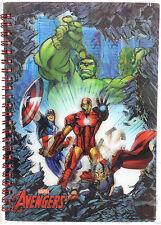 Official AVENGERS 3D Lenticular Notepad Notebook Jotter A5 Gift