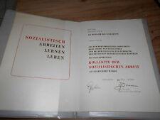 DDR atto collettivo della socialista reti idrauliche di lavoro 1984 Schkopau
