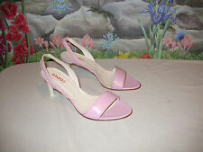 New HUGO BOSS Pink Leather Sandals 9