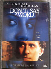 Michael Douglas Brittany Murphy DON'T SAY A WORD ~ 2001 Thriller R1 NOUS DTS DVD