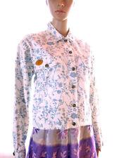 STONE VALLEY Womens Vtg 80s Designer Floral Patter Casual Cotton Jacket sz L P9