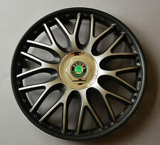 "16"" Skoda Fabia,Roomster,Octavia,etc...Wheel Trims / Covers, Hub Caps,black&silv"