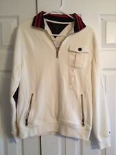 Tommy Hilfiger Men's Fence White Half-Zip Pullover Sweater Shirt Size S New NWT