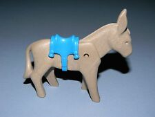 Playmobil Gray Donkey with Blue Saddle to 6 Playsets Listed