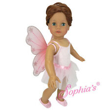 18 inch doll Clothes Ballerina Tutu Wings Costume set Made for American Girl