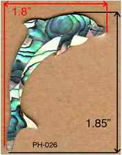 PH26# Dolphin Headstock Inlay In Paua Abalone 1.5mm thickness