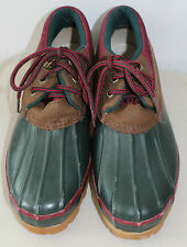 Womens G H BASS & Co Green Rubber Thermolite Waterproof Shoes Gayle Sz 10M L#123