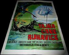 1970 L'uccello dalle piume di cristallo ORIGINAL YUGOSLAVIA POSTER Dario Argento