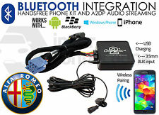 Alfa Romeo Mito Bluetooth streaming adapter handsfree calls CTAARBT001 AUX car